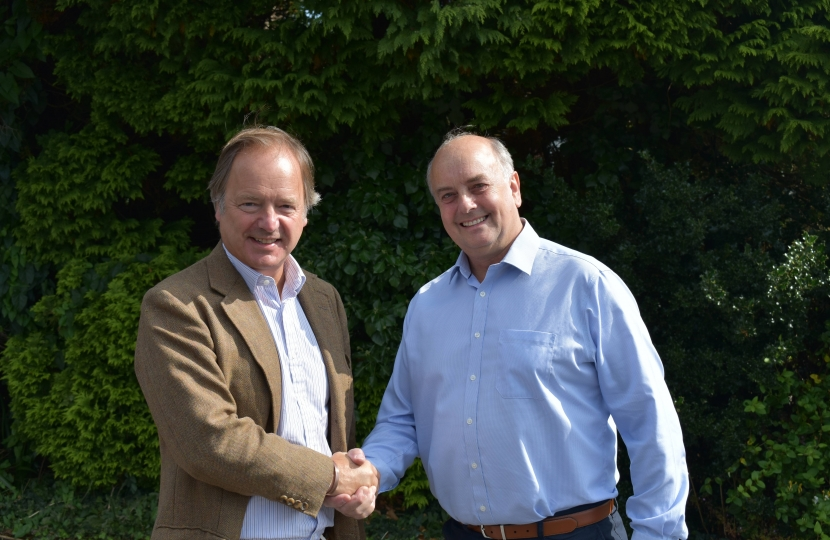 John Sheaves and Sir Hugo Swire MP