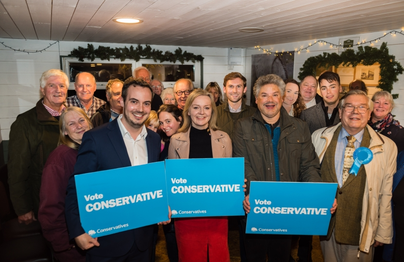 Liz Truss, Simon Jupp and supporters
